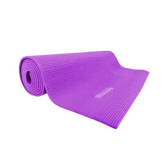 Fioletowa mata do jogi Insportline PVC 173 x 60 x 0.5 cm