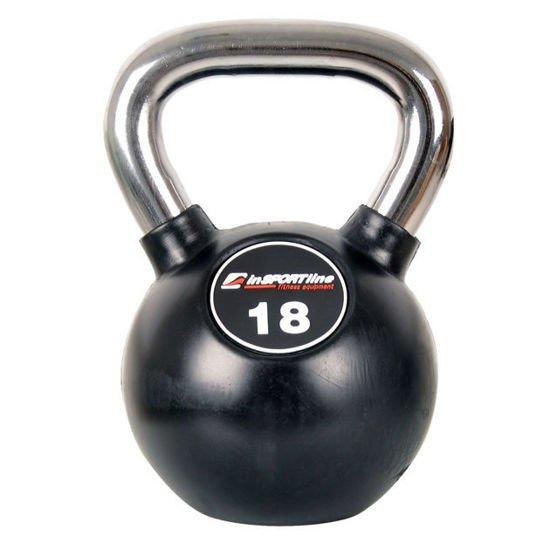 Hantla żeliwna Kettlebell Insportline 18 kg