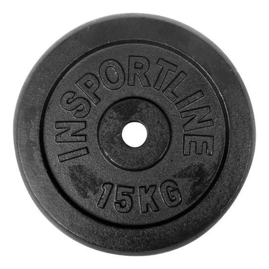 Obciążenie żeliwne Insportline Black (30 mm) 15 kg