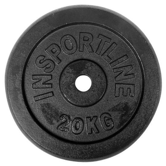 Obciążenie żeliwne Insportline Black (30 mm) 20 kg