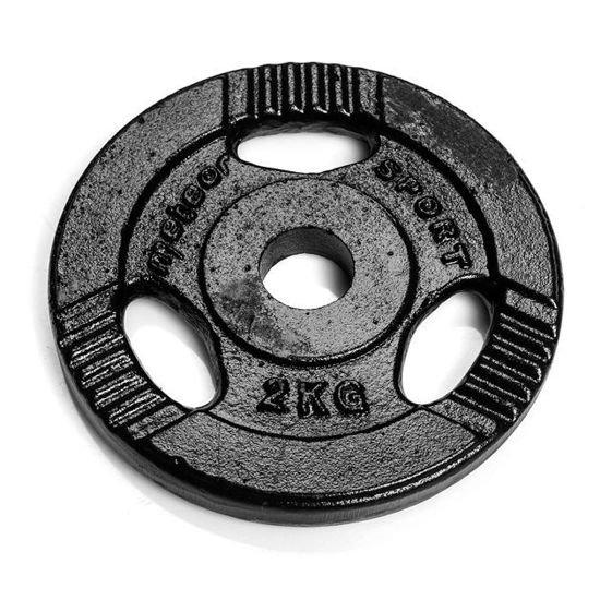 Obciążenie żeliwne Meteor czarne (28 mm) 2kg